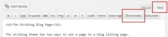 striking-shortcode-generator-textmode