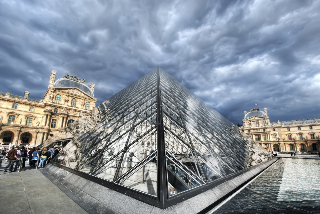 The Pyramid at the Louvre in Paris