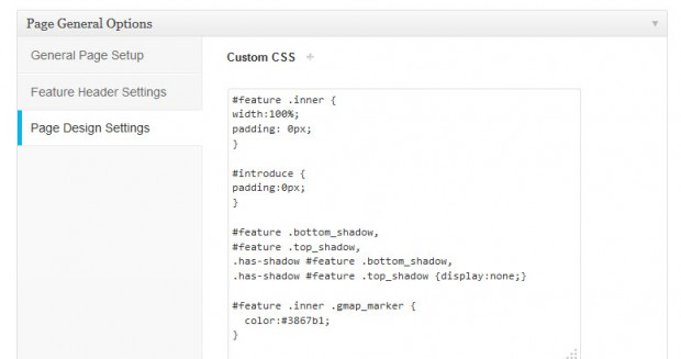 Insert Gmap Shortcode in Featured Header Custom CSS